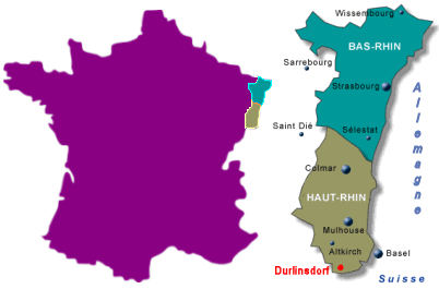 durlinsdorf sur la carte de France
